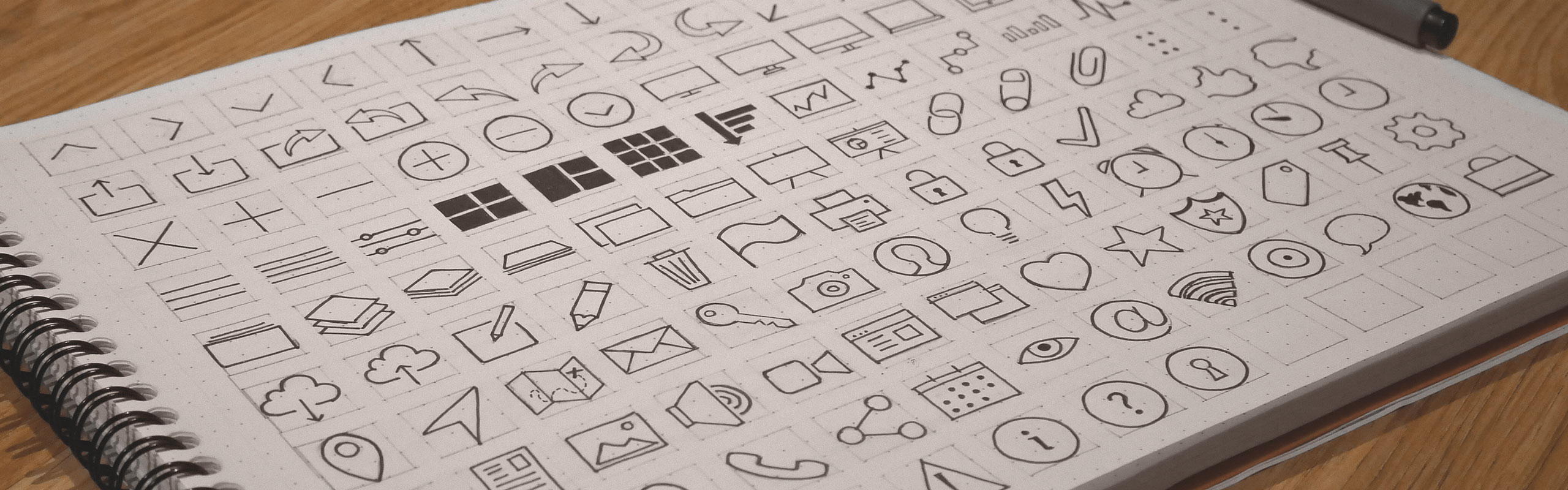 Sketches of the iconset